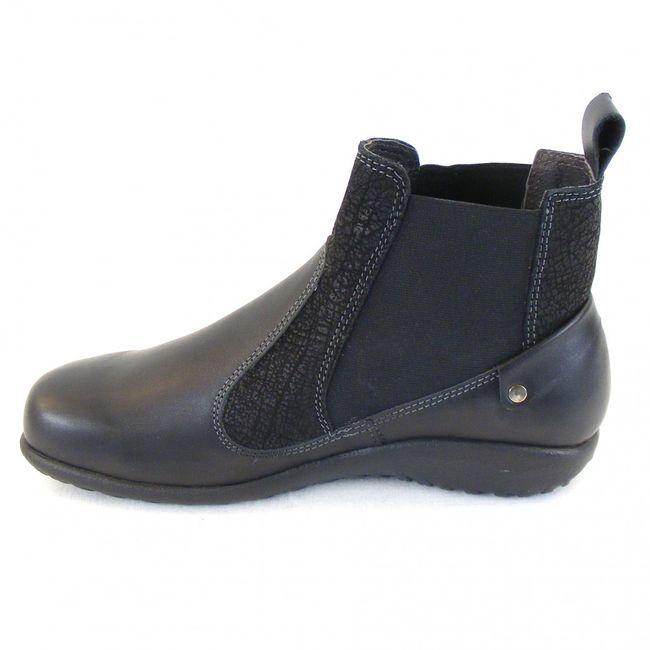 Naot Damen Schuhe Chelsea-Boots Konini Leder schwarz combi 12826 Wechselfußbett – Bild 2