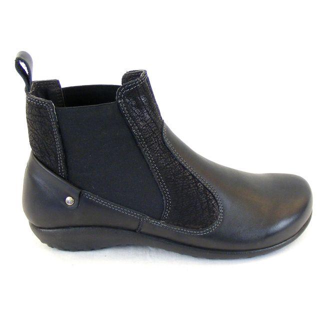 Naot Damen Schuhe Chelsea-Boots Konini Leder schwarz combi 12826 Wechselfußbett – Bild 4