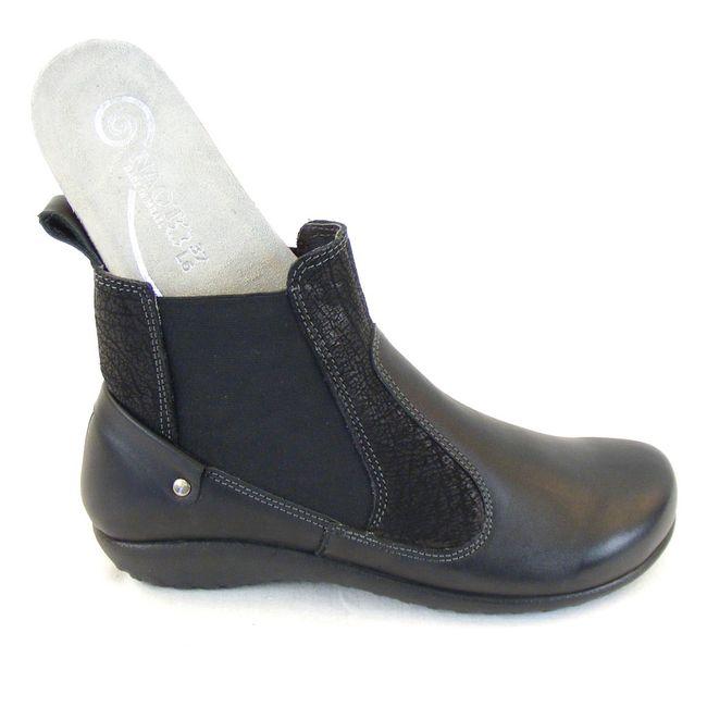 Naot Damen Schuhe Chelsea-Boots Konini Leder schwarz combi 12826 Wechselfußbett – Bild 6