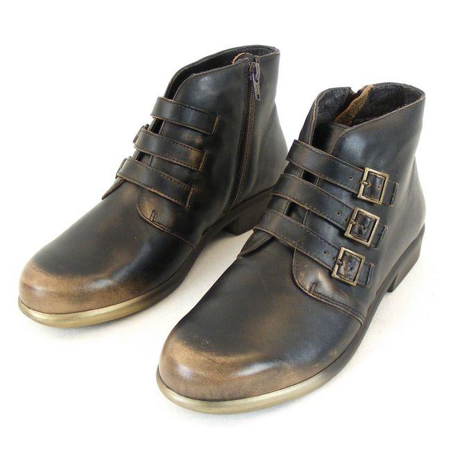 Naot Damen Schuhe Stiefeletten Calima Echt Leder Vintage braun combi 12832 – Bild 1