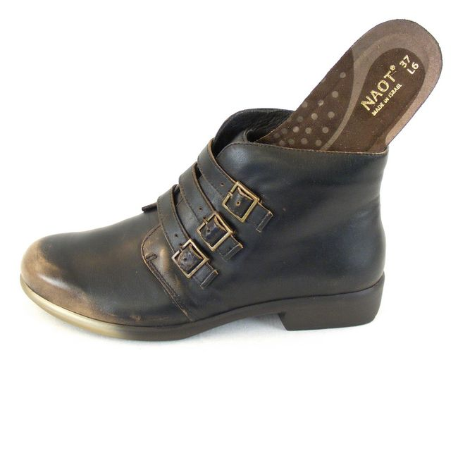 Naot Damen Schuhe Stiefeletten Calima Echt Leder Vintage braun combi 12832 – Bild 6