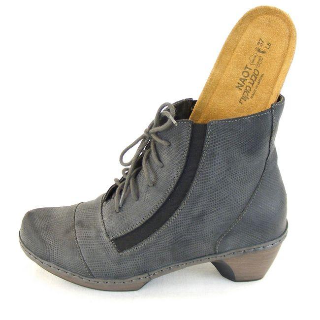 Naot Damen Schuhe Stiefelette Avila Echt Leder grau geprägt 12838 Wechselfußbett – Bild 6