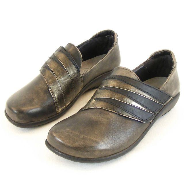 Naot Damen Schuhe  Halbschuhe Rapoka Echt Leder grau metallic schwarz 12844  – Bild 1