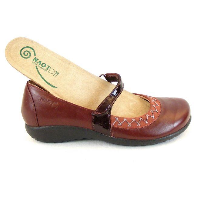 Naot Damen Schuhe Mary Jane Spangenschuhe Timaru Leder bordo 12935 Fußbett – Bild 6