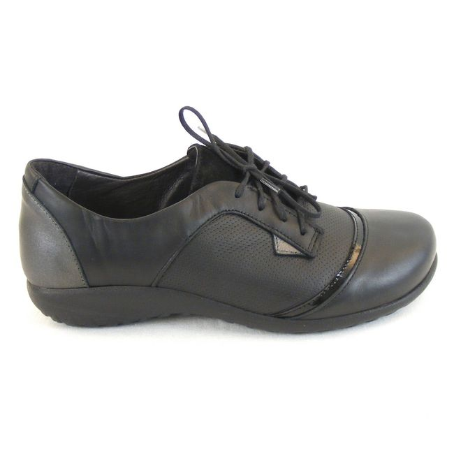 Naot Damen Schuhe Halbschuhe Harore Echt Leder grau schwarz combi 13012 Fußbett – Bild 4