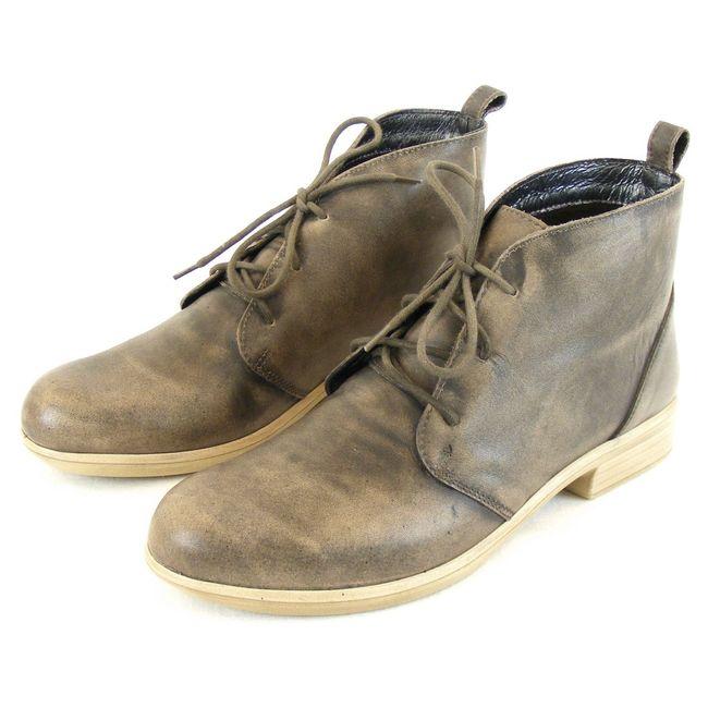 Naot Damen Schuhe Knöchelschuhe Levanto Leder vintage grau 13024 Wechselfußbett