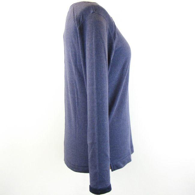 CECIL Damen Langarmshirt mit Brusttasche blau melange 13277 Baumwolle Doubleface – Bild 4