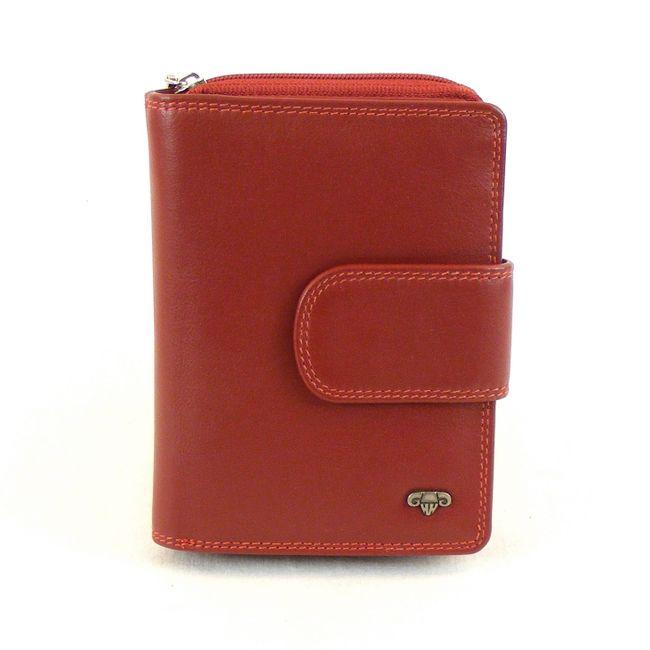 HGL Damen Geldbörse RV-Börse Leder rot 13343 Kreditkartenfach Riegel Druckknopf – Bild 1