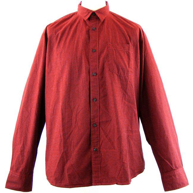 Pioneer Herren Hemd Oberhemd Nadelstreifen rot/schwarz Baumwolle Langarm 13450  – Bild 1