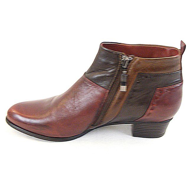 Piazza Damen Schuhe Stiefeletten Leder bordo braun dunkelbraun 13610 Fußbett – Bild 2