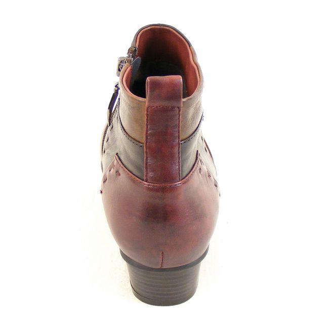 Piazza Damen Schuhe Stiefeletten Leder bordo braun dunkelbraun 13610 Fußbett – Bild 3