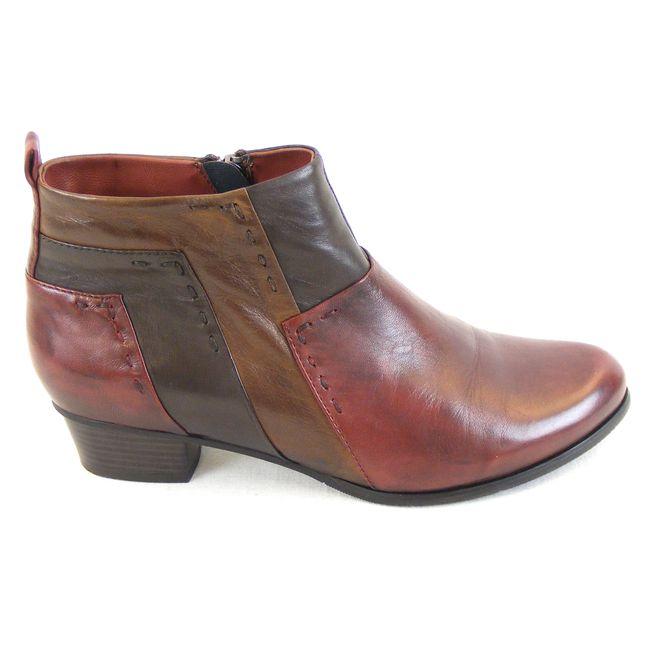 Piazza Damen Schuhe Stiefeletten Leder bordo braun dunkelbraun 13610 Fußbett – Bild 4