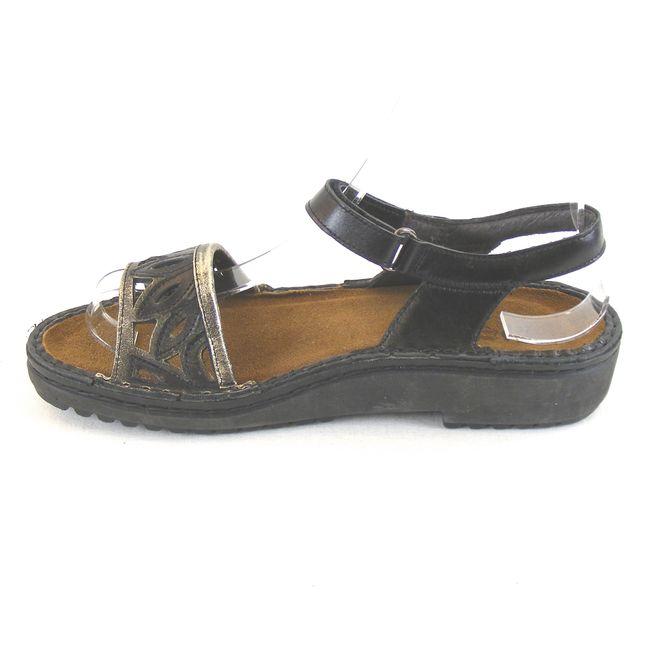 Naot Damen Schuhe Sandaletten Birgitta Leder schwarz gold metallic 13800 – Bild 2
