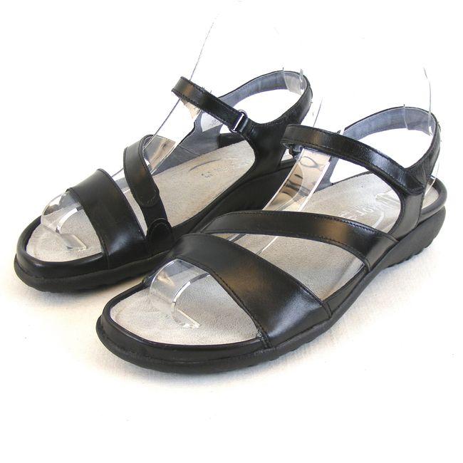 Naot Damen Schuhe Sandaletten Etera Echt Leder schwarz 13917 Wechselfußbett