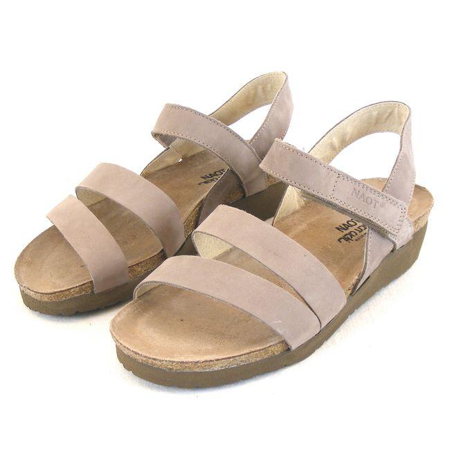 Naot Damen Schuhe Sandaletten Kayla Echt Leder stone 13923 Korkfußbett Freizeit – Bild 1