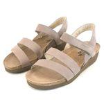 Naot Damen Schuhe Sandaletten Kayla Echt Leder stone 13923 Korkfußbett Freizeit 001