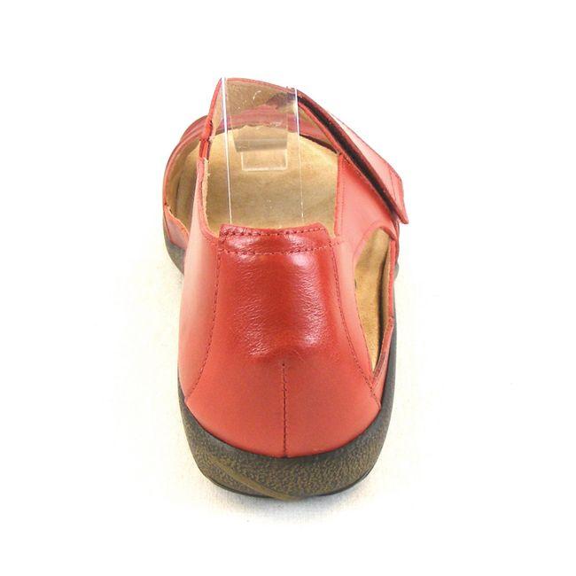 Naot Damen Schuhe Sandaletten Papaki Echt-Leder rot combi 14033 Wechselfußbett – Bild 3