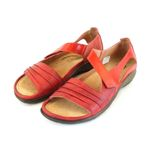 Naot Damen Schuhe Sandaletten Papaki Echt-Leder rot combi 14033 Wechselfußbett 001