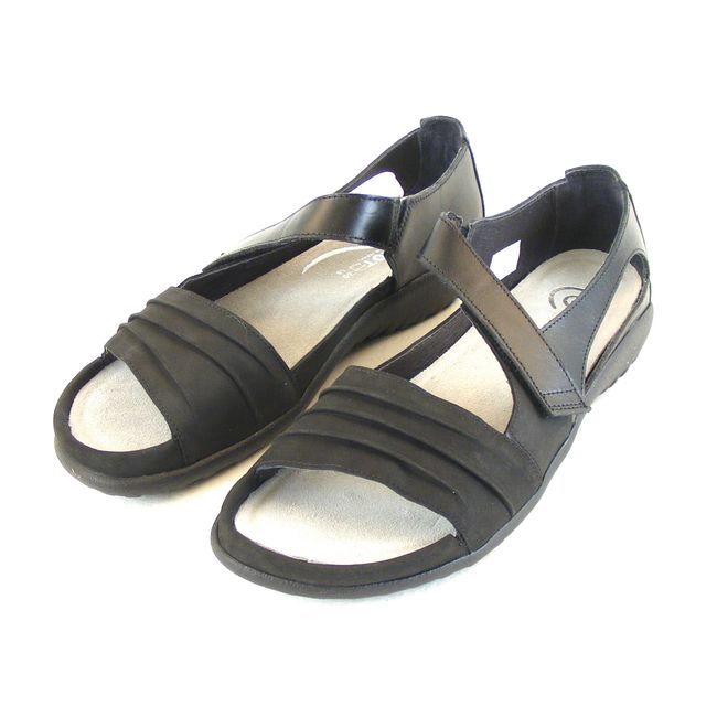 Naot Damen Schuhe Sandaletten Papaki Leder schwarz combi 14047 Wechselfußbett – Bild 1