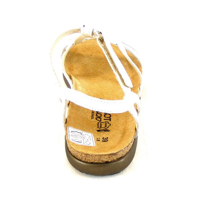 Naot Damen Schuhe Sandaletten Dorith Echt-Leder weiß 14075 Korkfußbett Freizeit – Bild 3