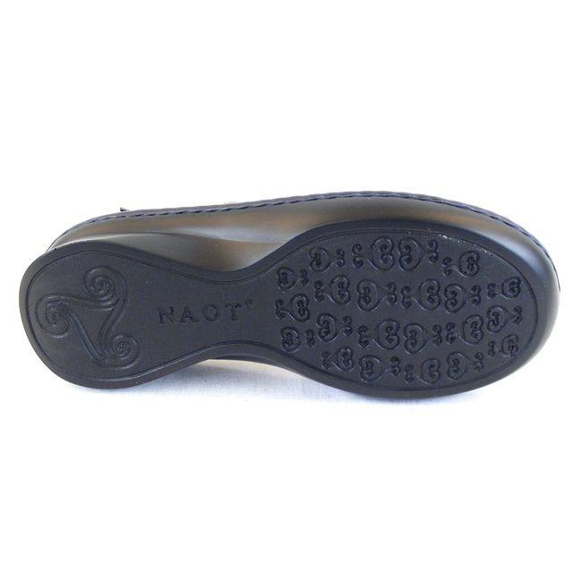 Naot Damen Schuhe Sandaletten Serenade Echt-Leder blaugrau 14319 Wechselfußbett  – Bild 5