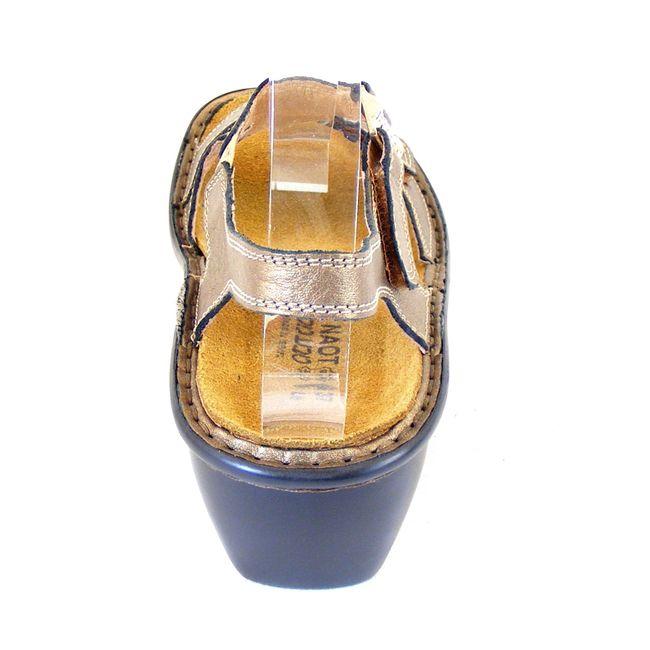 Naot Damen Schuhe Sandaletten Faso Echt-Leder gold 14473 Wechselfußbett Freizeit – Bild 3