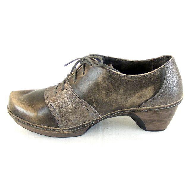 Naot Damen Schuhe Halbschuhe Besalu Echt-Leder grau combi 14714 Wechselfußbett  – Bild 2