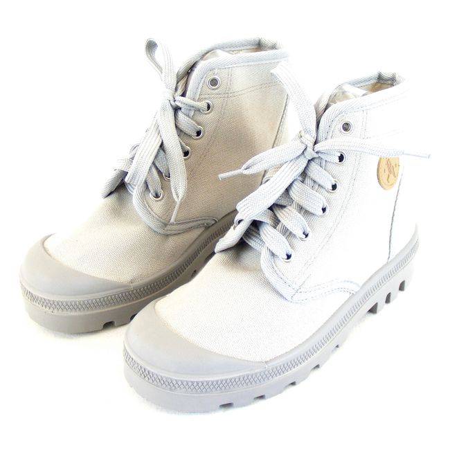 Naot Damen Schuhe Knöchelschuhe Scout W. Canvas grau 14748 Wechsel-Einlegesohle – Bild 1