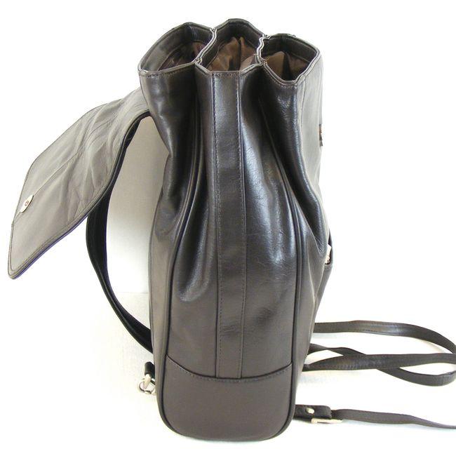Pavini Damen Tasche Rucksack Classics Echt-Leder dunkelbraun 14891 Cityrucksack – Bild 4