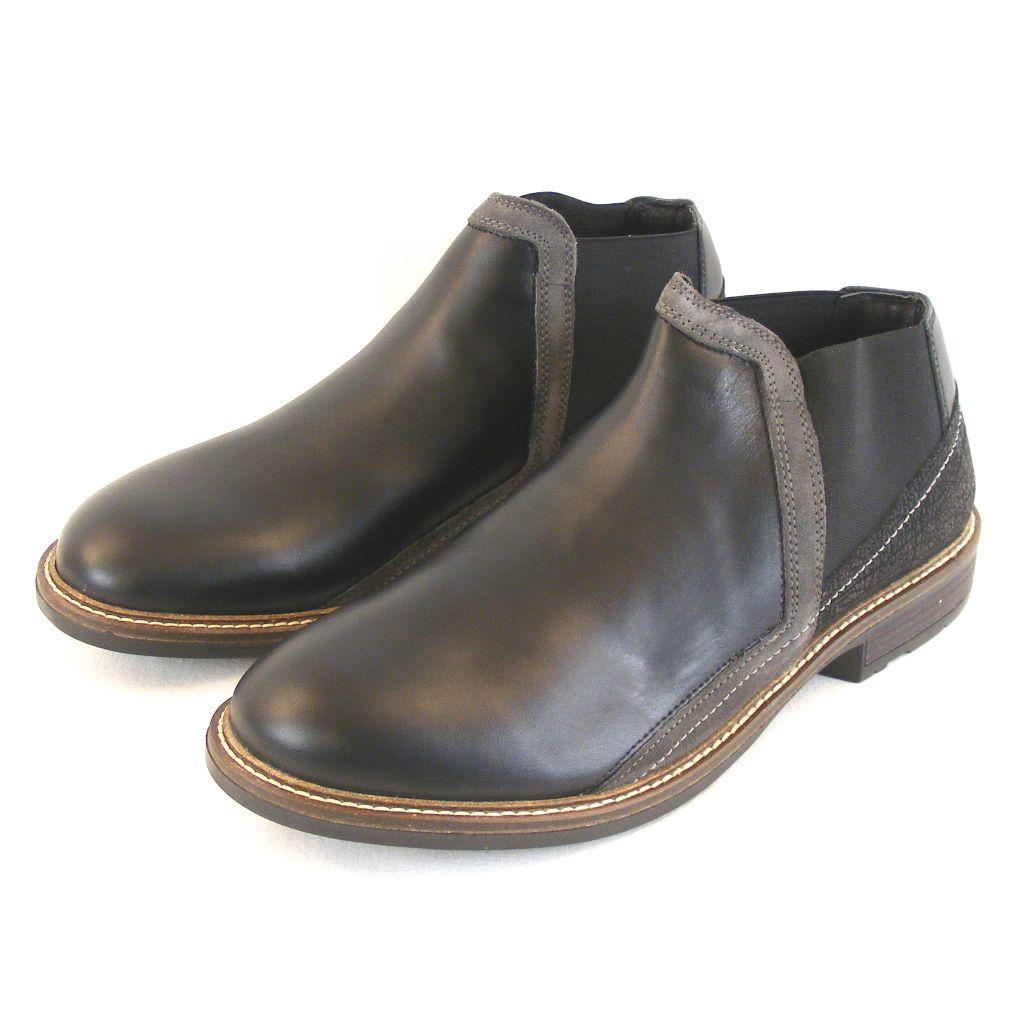 Naot Herren Schuhe Knöchelschuhe Business Echt-Leder schwarz grau combi 14896 – Bild 1