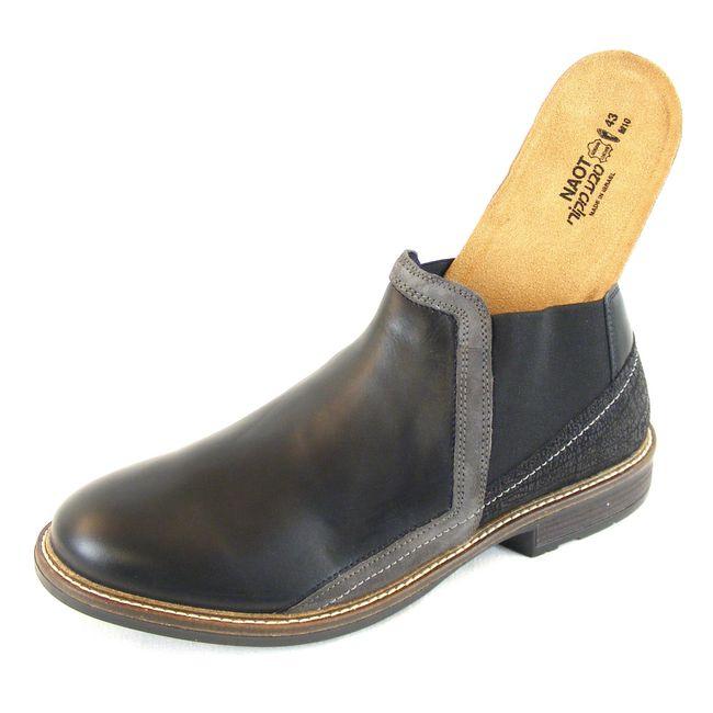 Naot Herren Schuhe Knöchelschuhe Business Echt-Leder schwarz grau combi 14896 – Bild 6