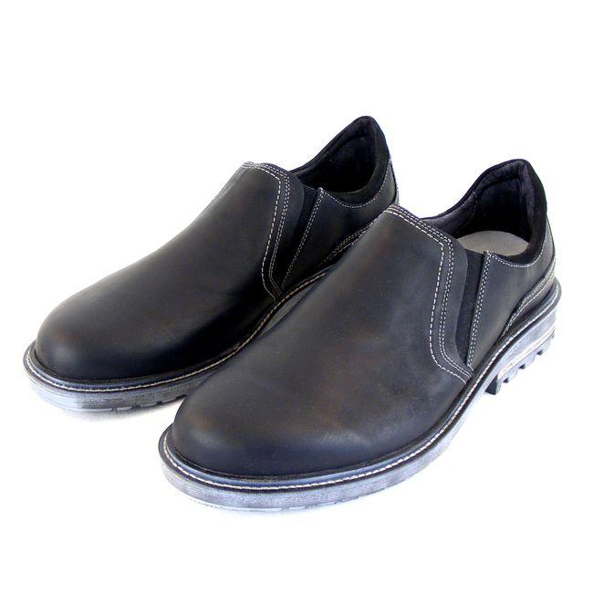 Naot Herren Schuhe Slipper Manyara Echt-Leder schwarz 14912 Wechselfußbett – Bild 1