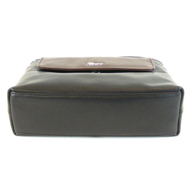 Pavini Damen Tasche Crossovertasche Messina Echt-Leder schwarz braun 15023 klein – Bild 5
