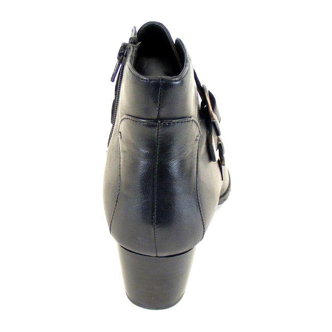 Piazza Damen Schuhe Stiefeletten Echt-Leder schwarz 15069 gefüttert mit Absatz – Bild 3