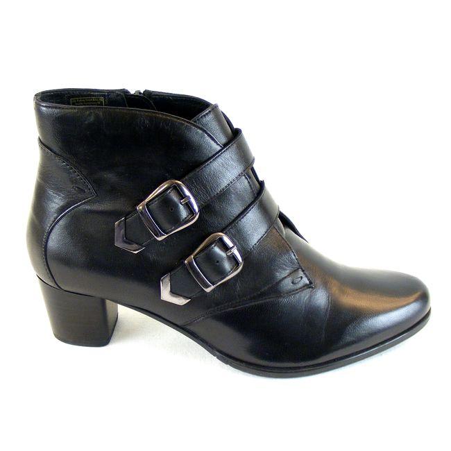 Piazza Damen Schuhe Stiefeletten Echt-Leder schwarz 15069 gefüttert mit Absatz – Bild 4