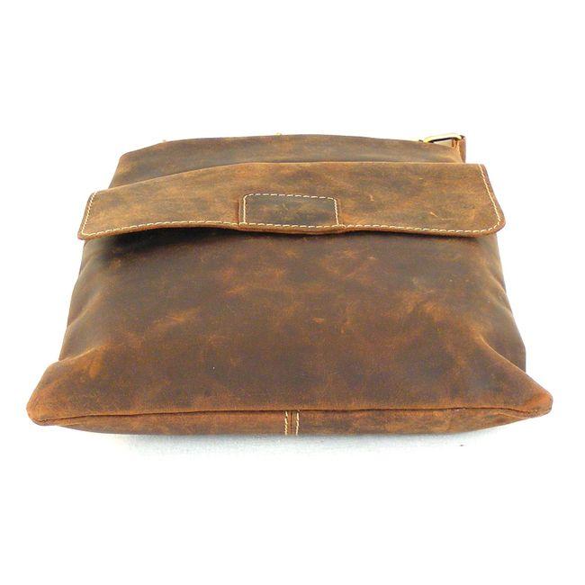 HGL Damen Tasche Crossovertasche Echt-Leder natur 15145 Reißverschluss Handyfach – Bild 5