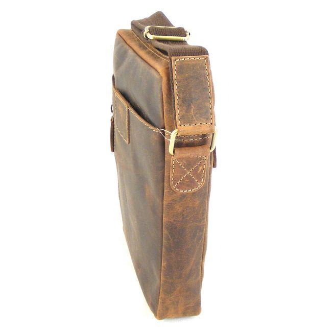 HGL Tasche Crossovertasche Echt-Leder natur 15155 Reißverschluss Handyfach – Bild 2