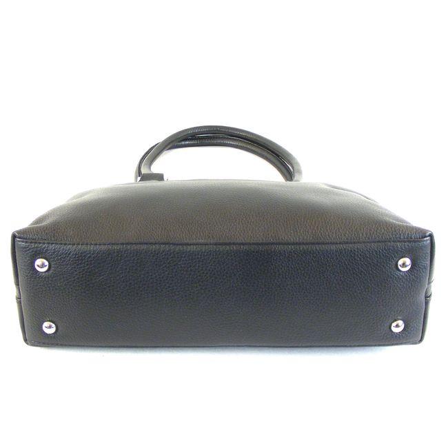 Pavini Damen Tasche Shopper Verona Echt-Leder schwarz 15254 Handyfach RV-Fach – Bild 5