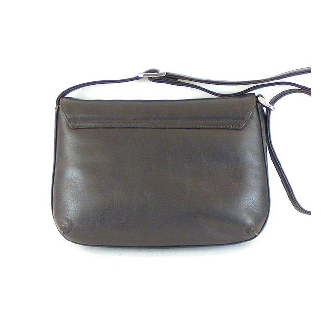Pavini Damen Tasche Überschlagtasche Vegas Echt-Leder dunkelbraun RV-Fach 15399  – Bild 4
