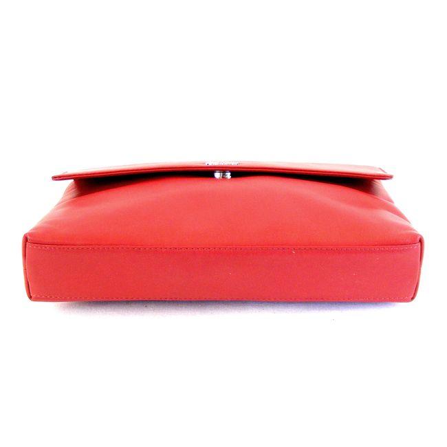 Pavini Damen Tasche Überschlagtasche Vegas Echt-Leder rot Handyfach klein 15405 – Bild 6