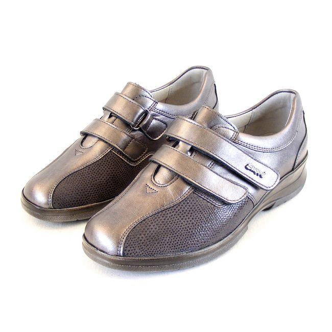 Stuppy Damen Schuhe Halbschuhe Leder Stretch taupe Fußbett Wechselfußbett 15509 – Bild 1