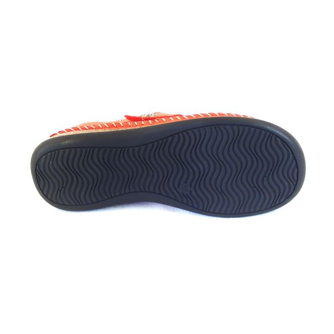 Comfortabel Damen Schuhe Halbschuhe Echt-Leder rot lose Lederdecksohle 15762 – Bild 5