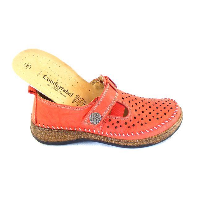 Comfortabel Damen Schuhe Halbschuhe Echt-Leder rot lose Lederdecksohle 15762 – Bild 6