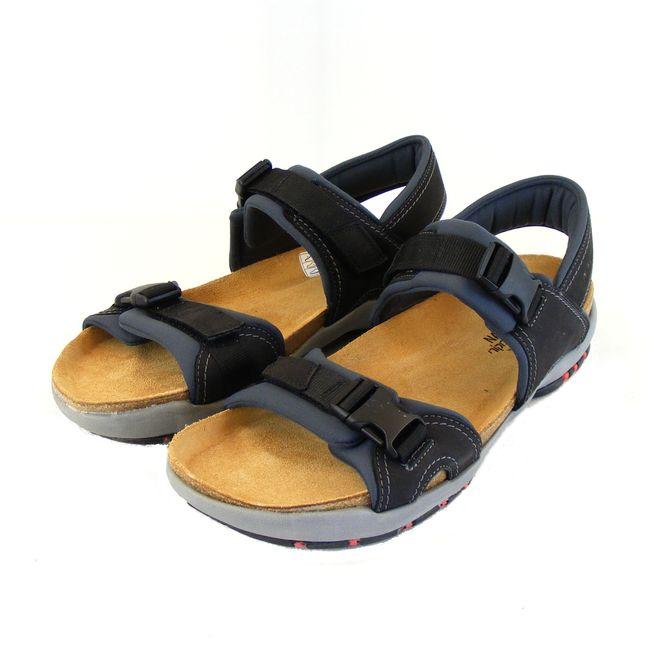 Naot Herren Schuhe Sandaletten Explorer Echt-Leder schwarz combi Fußbett 15940 – Bild 1