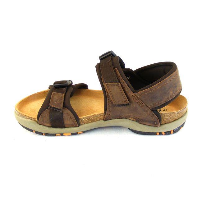 Naot Herren Schuhe Sandaletten Explorer Echt-Leder braun combi Fußbett 15945 – Bild 2
