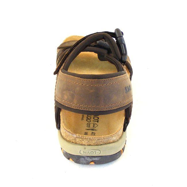 Naot Herren Schuhe Sandaletten Explorer Echt-Leder braun combi Fußbett 15945 – Bild 3