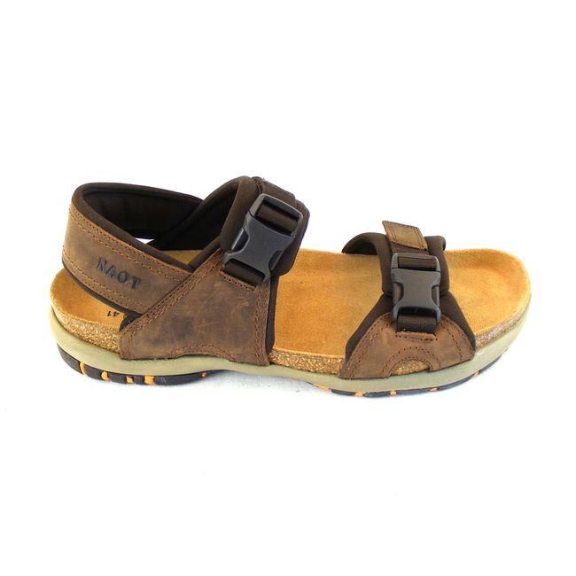 Naot Herren Schuhe Sandaletten Explorer Echt-Leder braun combi Fußbett 15945 – Bild 4