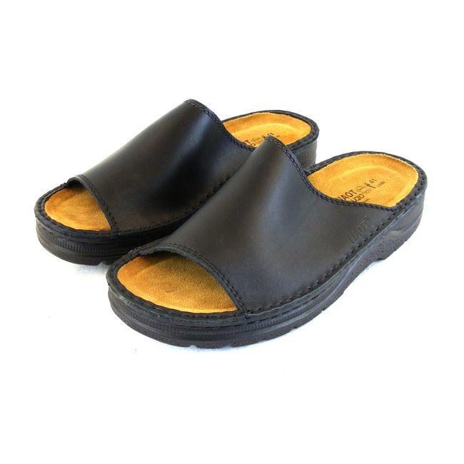 Naot Herren Schuhe Pantoletten Tundra Echt-Leder schwarz Wechselfußbett 15951 – Bild 1