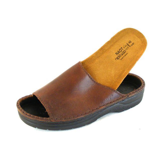 Naot Herren Schuhe Pantoletten Tundra Echt-Leder braun Wechselfußbett 15957 – Bild 6