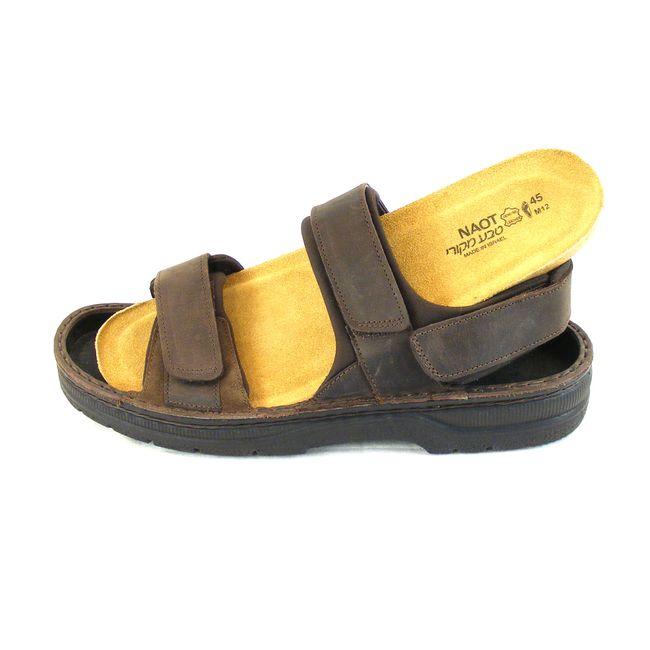 Naot Herren Schuhe Sandaletten Arthur Echt-Leder dunkelbraun matt Fußbett 15968 – Bild 6